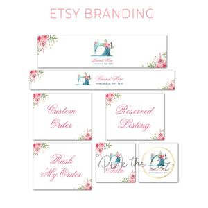 Premade etsy branding sewing machine