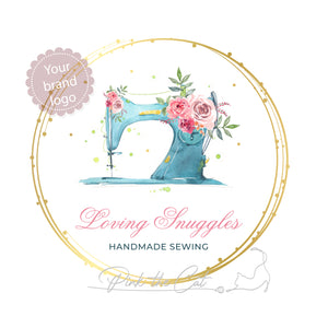 Premade sewing logo design