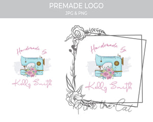 Premade sewing vintage logo design