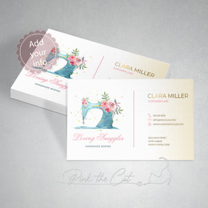 Premade sewing business card
