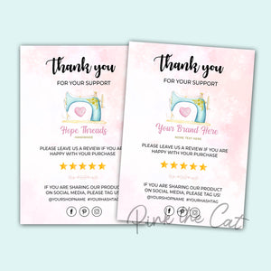 Business thank you card sewing machine #2