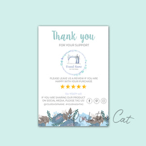 Business thank you card sewing machine #3