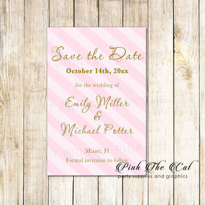 30 save the date cards pink gold wedding bridal shower
