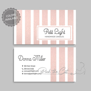 Premade rose gold business card