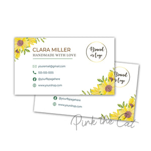 Premade sunflower business card