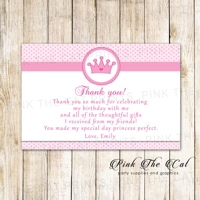 30 thank you cards princess pink dots baby shower birthday