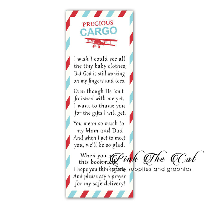 Travel precious cargo bookmarks printable
