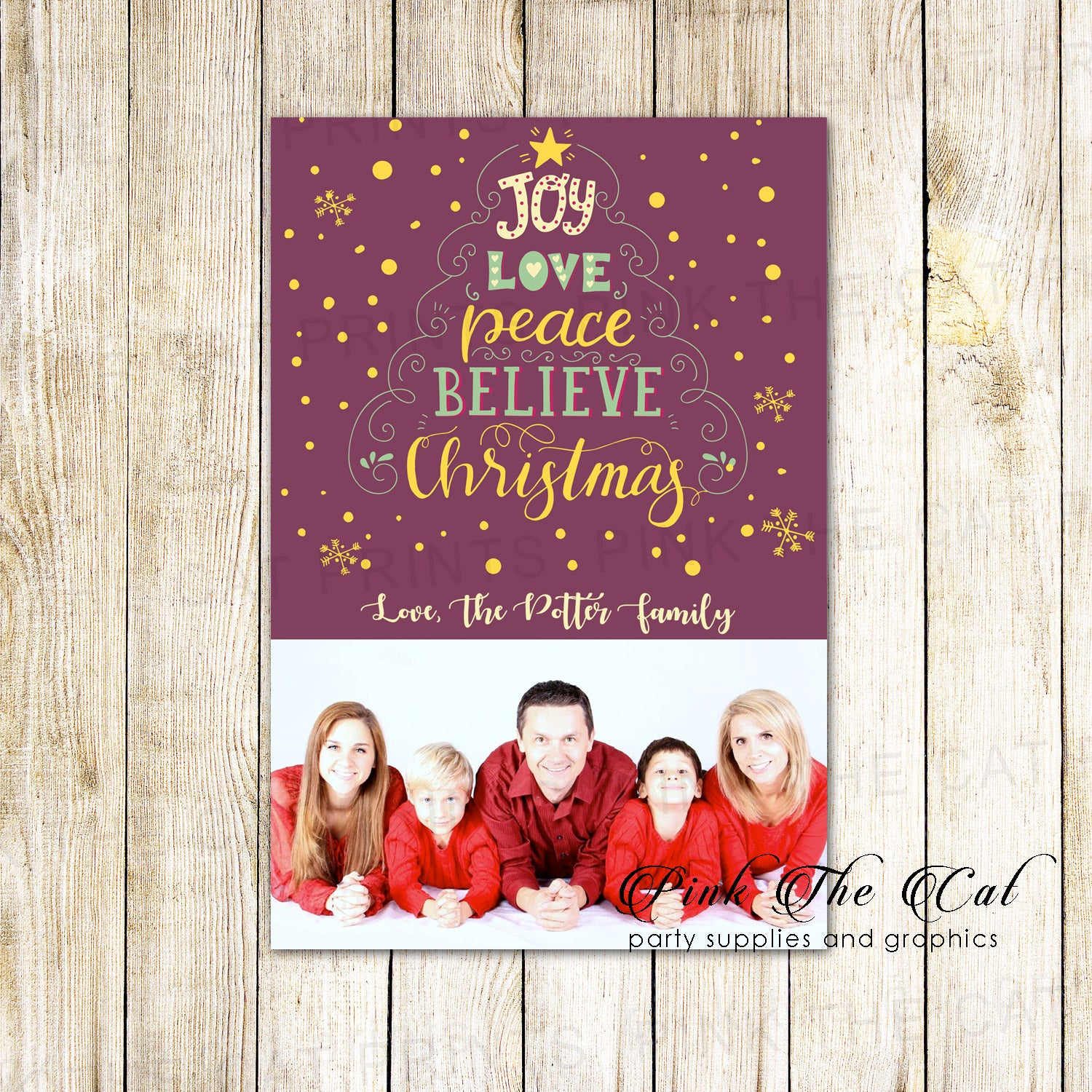 30 Holiday Christmas Greeting Cards Word Tree With Photo