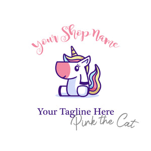 Premade unicorn logo design
