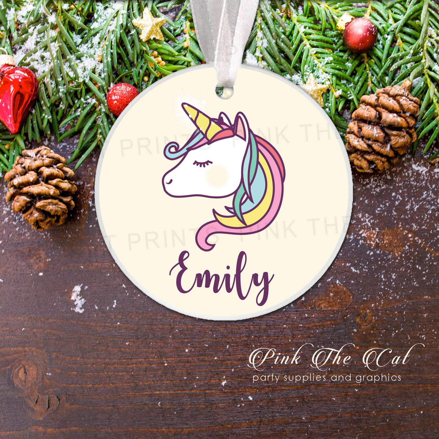 Horseshoe Christmas Tree For Sale.Personalized Christmas Tree Ornament Girl Unicorn