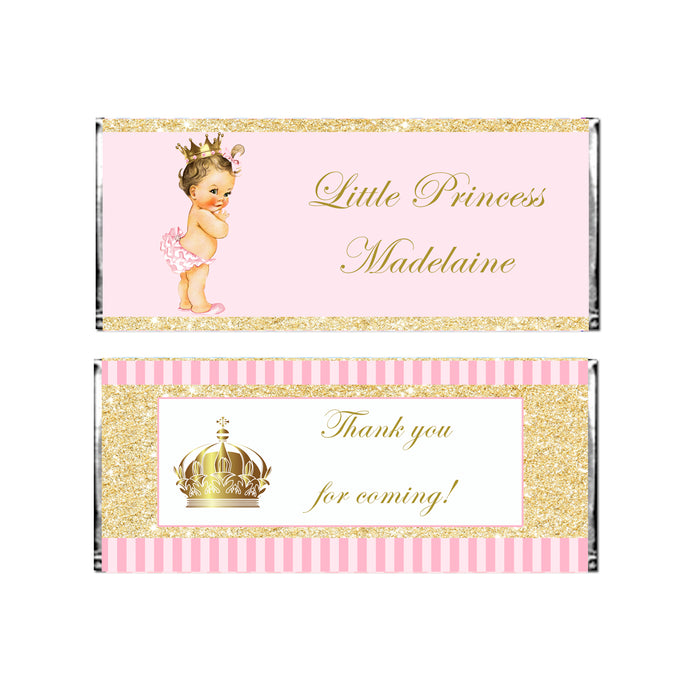 Candy bar wrappers princess vintage baby printable