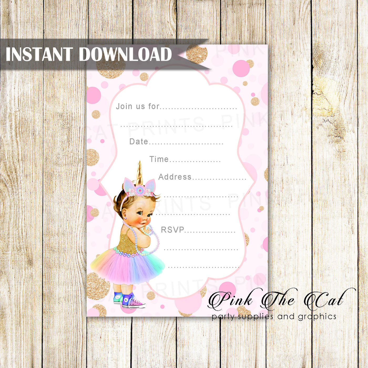 graphic relating to Printable Fill Ins called Unicorn Little one Invitation Fill Inside of Blank Printable