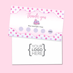 10% Sale Cakes & Sweets Stamp Card