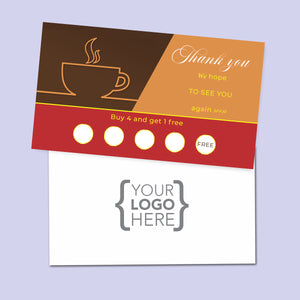 10% Sale Coffee Stamp Card