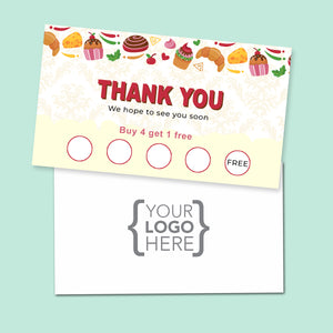 10% Sale Cookies & Sweets Stamp Card 3
