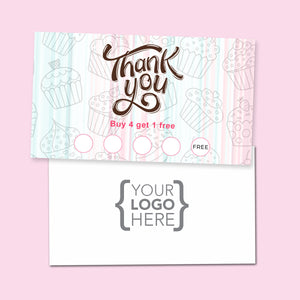10% Sale Cupcakes & Sweets Stamp Card
