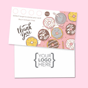 10% Sale Donuts & Sweets Stamp Card