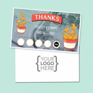 10% Sale Fried Chicken Stamp Card