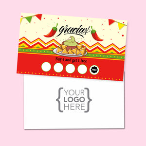 10% Sale Mexican Stamp Card