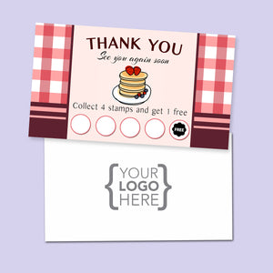 10% Sale Pancakes Stamp Card