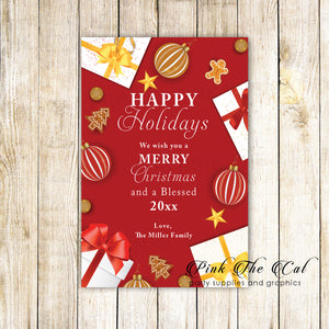 30 Holiday christmas greeting cards gifts ornaments