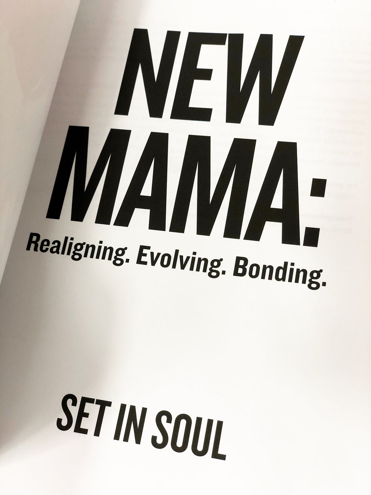 New Mama: Realigning. Evolving. Bonding. (New Mom Journal)