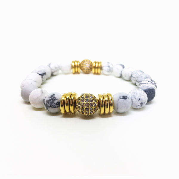 Golden Soul Stretch Beaded Bracelet