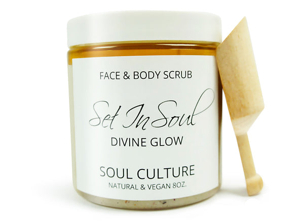 Divine Glow (Rose Grapefruit) Face & Body Scrub With Scooper