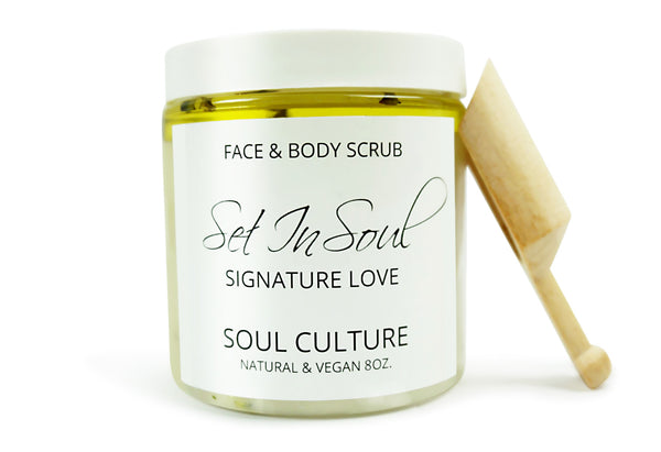 Signature Love (Lavender) Face & Body Scrub With Scooper