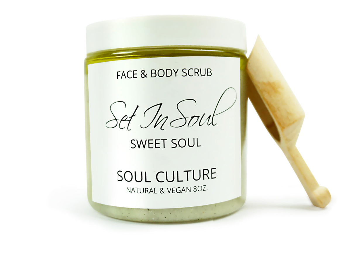 Sweet Soul (Spearmint Eucalyptus) Face & Body Scrub With Scooper