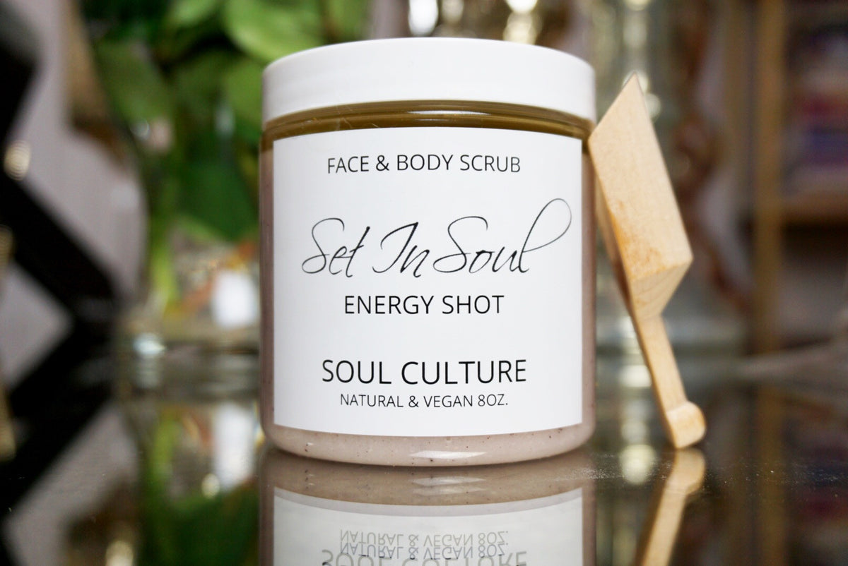 Energy Shot (Hibiscus Mint) Face & Body Scrub With Scooper
