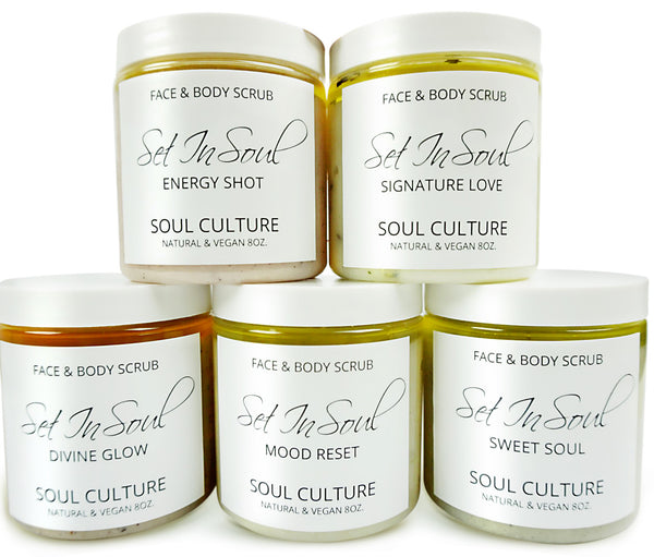 Full Face & Body Scrub Collection With Scoopers