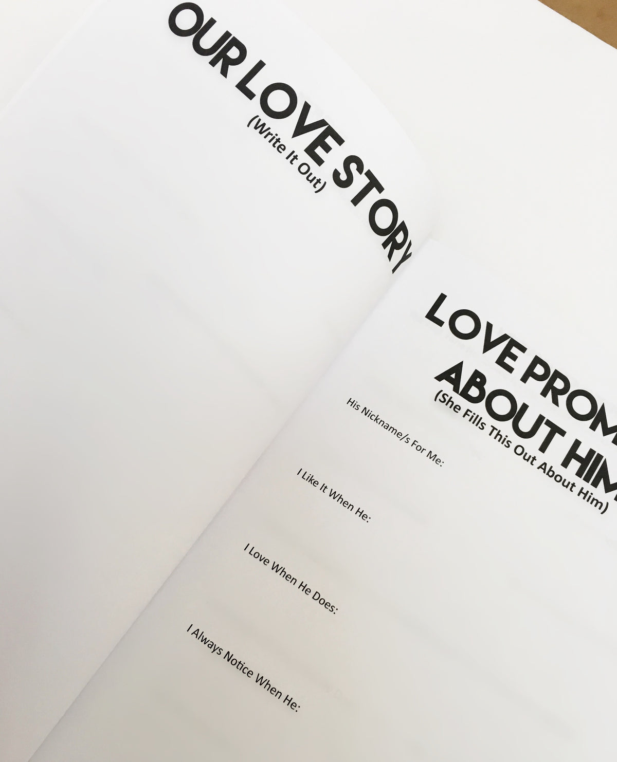 Love In Progress Journal (Couples Journal)
