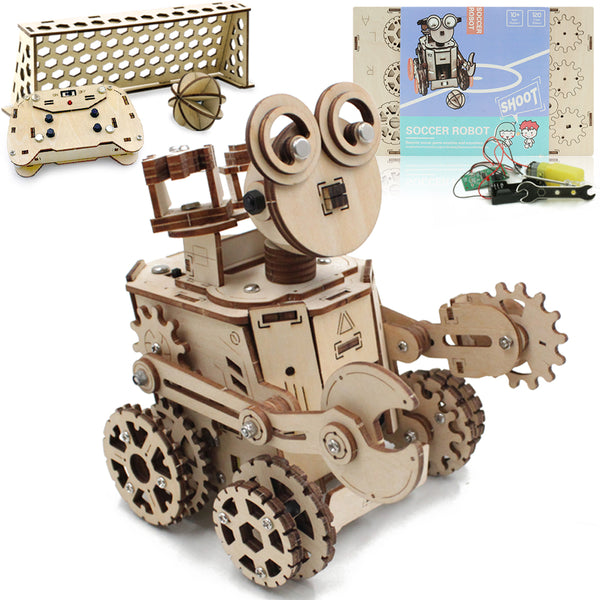 Soccer Robot - Remote Controlled Robot 3D Wood Mechanical Puzzle