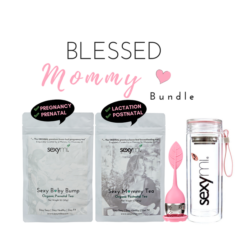 Blessed Mommy Bundle - The ORIGINAL 100% Natural Preamium Loose Leaf Pregnancy & Lactation Tea for breastfeeding moms!