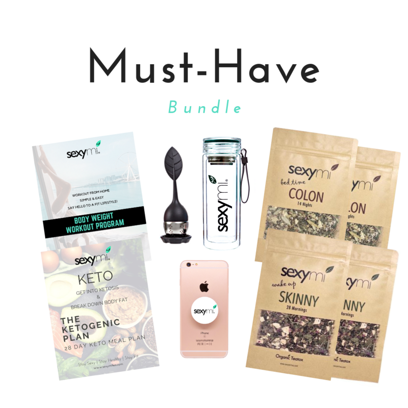Must-Have Bundle - The BEST detox tea on the market! Instant Keto Meal Plan & Exercise Guide Download