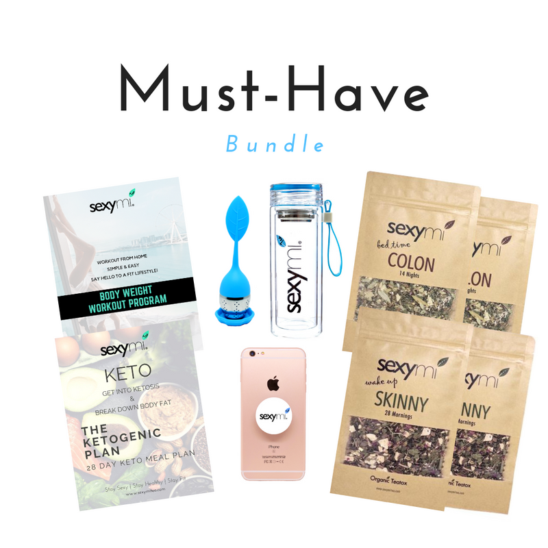 Must-Have Bundle - The BEST detox tea on the market! Instant Keto Meal Plan & Exercise Guide Download - sexymi Tea