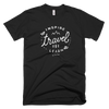 "INSPIRE TRAVEL LEARN T SHIRT - ""The Sketch"" [BLACK]"
