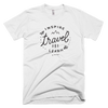 "INSPIRE TRAVEL LEARN T SHIRT - ""The Sketch"" [WHITE]"