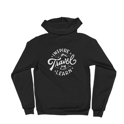 "INSPIRE TRAVEL LEARN ZIP UP HOODIE - ""The Classic"""