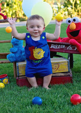 Boys Birthday Big Bird Jon, Boys Birthday Jon,First Birthday Jon,Applique Embroidered Jon