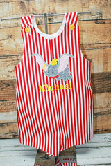 Boys Birthday Dumbo Jon, Boys Birthday Jon,First Birthday Jon,Applique Embroidered Jon