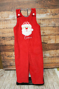 Christmas Santa Jon,Boys Christmas Jon,Red Santa Jon,Appliqué Embroidered Longall Jon