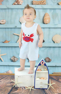 Boys Crab Birthday Jon,Boys Birthday Jon,First Birthday Jon,Applique Embroidered Jon