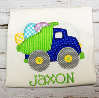 Boys Easter Egg Truck Shirt,Boys T shirt or Bodysuit, Appliqué Embroidered