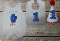 Boys Golf Birthday Set,Boys First Birthday Set,First Birthday Golf Bag Jon Hat Bib