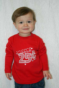 Boys Valentine Kisses Shirt,Boys T shirt or Bodysuit, Appliqué Embroidered