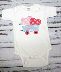 Girls Valentine Shirt,Girls Valentine Wagon Shirt,Girls T shirt or Bodysuit, Appliqué Embroidered