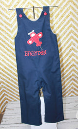 Boys Airplane Jon,Boys Birthday Jon,First Birthday Jon, Applique Embroidered Jon