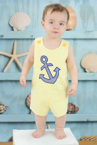 Boys Anchor Jon,Boys Beach Shortall,Boys Nautical Clothes Jon,Applique Embroidered Jon
